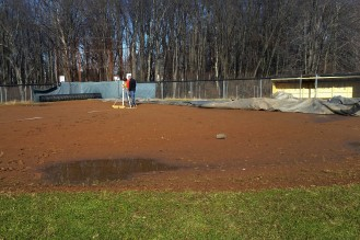 Initial Survey - water pooling at 2nd base